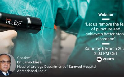 """EMS Webinar met Janak Desai: """"Let us remove the fear of puncture and achieve a better stone clearance"""""""